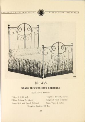 Manfacturers of iron and brass bedsteads, iron cribs, iron cots, iron frame springs ... mattresses, comforters ... steel tube bedsteads ... wood frame springs...