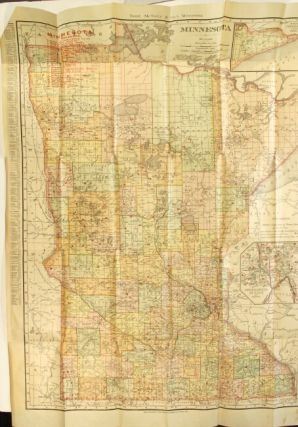 Indexed county and township pocket map and shippers' guide of Minnesota accompanied by a new and...