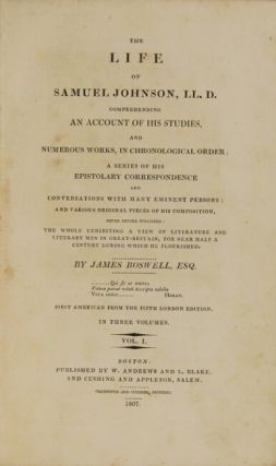 The life of Samuel Johnson, LL.D. comprehending an account of his studies