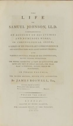 The life of Samuel Johnson, LL.D. ... The second edition, revised and augmented