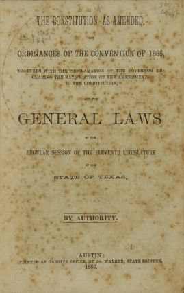 The Constitution, as amended, and ordinances of the convention of 1866, together with the...
