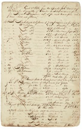 Ledger book of a merchant and Great Lakes ship's captain who traded in early Chicago