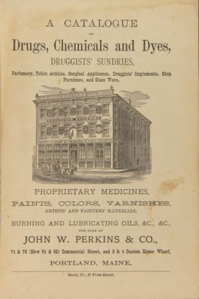 A catalogue of drugs, chemicals and dyes, druggists' sundries, perfumery, toilet articles, appliances,druggists' instruments, shop furniture, and glass ware, proprietary medicines, paints, colors, varnishes, artists' and painters' materials