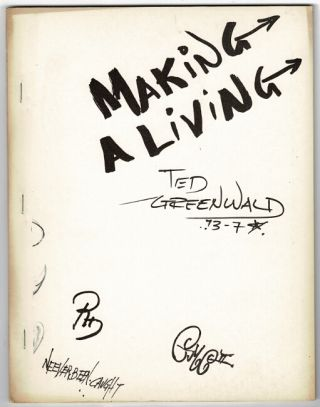Making a living. Ted Greenwald