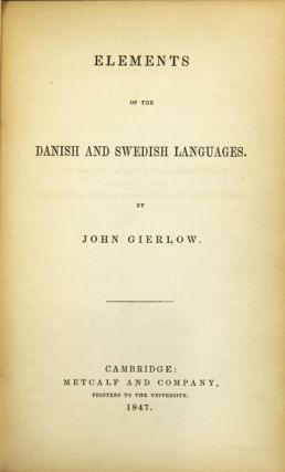 Elements of the Danish and Swedish languages.