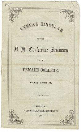 Annual circular of the N. H. Conference Seminary and Female College for 1861-2 [cover title