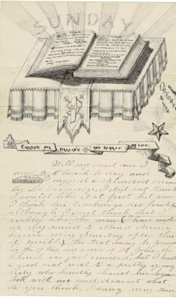 A collection of 19 illustrated autograph letters and two illustrated autograph poems on approximately 85 pages, including six letters to his mother, Anna M. Jackson, and 17 more to his sweetheart and later wife, Carrie
