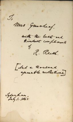 Memoranda of a residence at the court of London, comprising incidents official and personal from 1819-1825. Including negotiations on the Oregon question, and other unsettled questions between the United States and Great Britain. [Second series.]