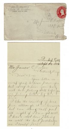 Incoming correspondence to James Clarence Cooper from family and friends
