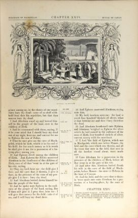 The illuminated Bible, containing the Old and New Testaments, translated out of the original tongues ... embellished with sixteen hundred historical engravings by J.A. Adams, more than fourteen hundred of which are from original designs by J.G. Chapman.