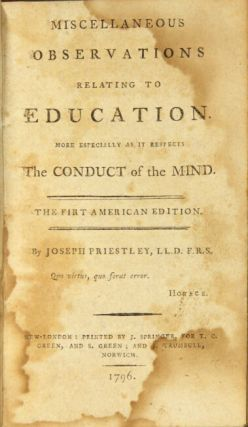 Miscellaneous observations relating to education. More especially as it respects the conduct of the mind