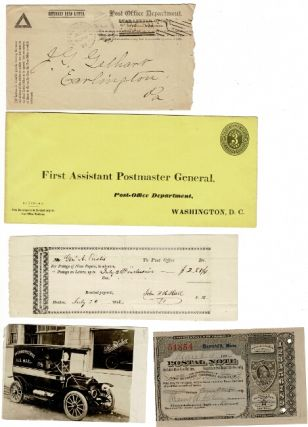 Collection of official US post office ledgers and ephemera 1825-1927