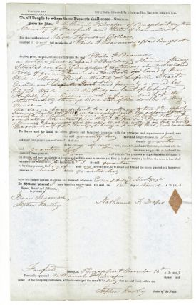 Deed of Sale of Land: Nathaniel F. Draper to Philo T. Barnum