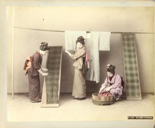Album of 63 hand-colored photographs of Japan