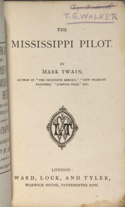 The Mississippi pilot. By Mark Twain
