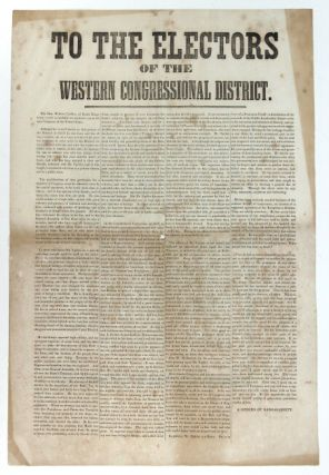 To the electors of the Western Congressional district. The Hon. Wilkins Updike, of South...