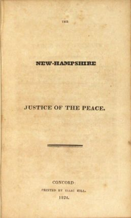 The New-Hampshire justice of the peace