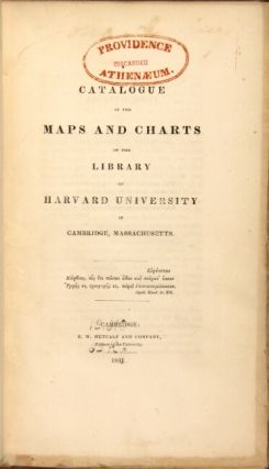 A catalogue of the maps and charts in the library of Harvard University in Cambridge, Massachusetts.