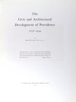 The civic and architectural development of Providence 1636 - 1950