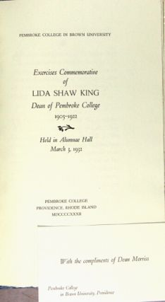 Lida Shaw King: an appreciation ... With a reproduction of a portrait by Frank W. Benson