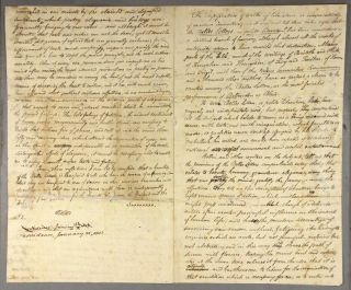Four-page autograph essay concerning the importance of the belles lettres. William Sheldon