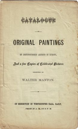 Catalogue of original paintings by distinguished artists in Europe, and a few copies of...