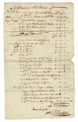 Collection of approximately 20 manuscript letters, invoices, receipts, relating to the two...