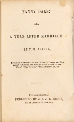 Fanny Dale: or, a year after marriage