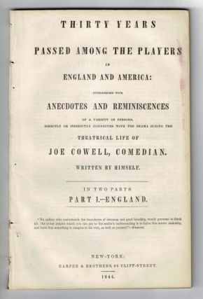 Thirty years passed among the players in England and America: interspersed with anecdotes and...