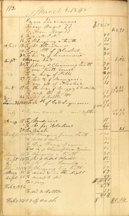 Physician's ledger from New Hampshire, 1841-1853