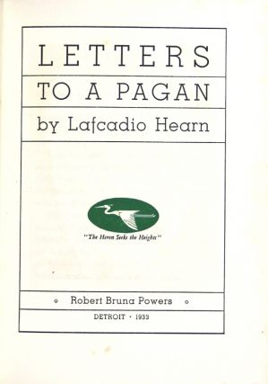 Letters to a pagan
