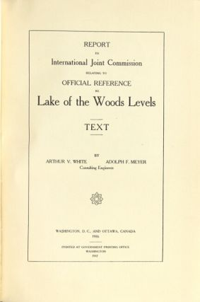 Report to International Joint Commission relating to official reference re Lake of the Woods levels