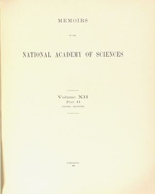 Memoirs of the National Academy of Sciences. Volume XII, Part II ... The turquoise. A study of its history, mineralogy, geology, ethnology, archaeology, mythology, folklore, and technology