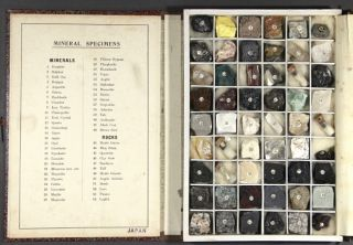 Fifty-four mineral specimens