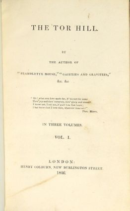 The Tor Hill ... In three volumes