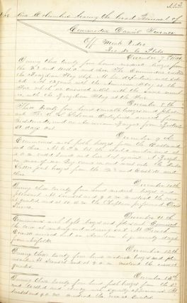 """Midshipman's manuscript """"Journal of a cruise in the U.S. Ship of the Line Columbus, bearing the broad pendant [sic] of Commodore Char[le]s W. Morgan,"""" and a subsequent cruise on board the U.S. Sloop of War, Jamestown"""
