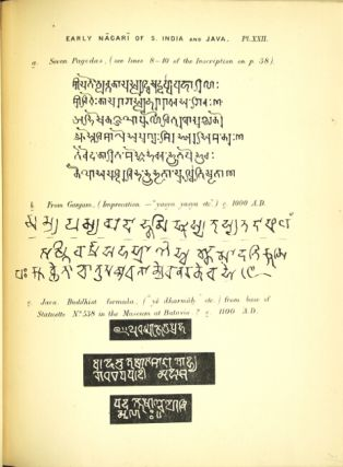 Elements of south Indian palaeography from the fourth to the seventh century a.d. being an introduction to the study of south-Indian inscriptions and mss.